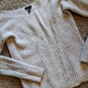 Aqua Boatneck Sweater
